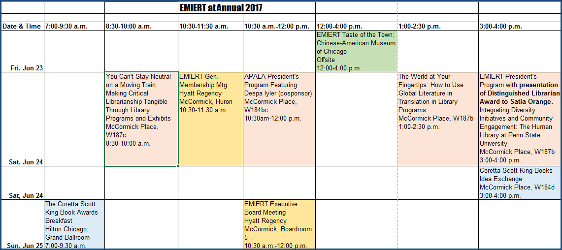Image of 2017 EMIERT programs