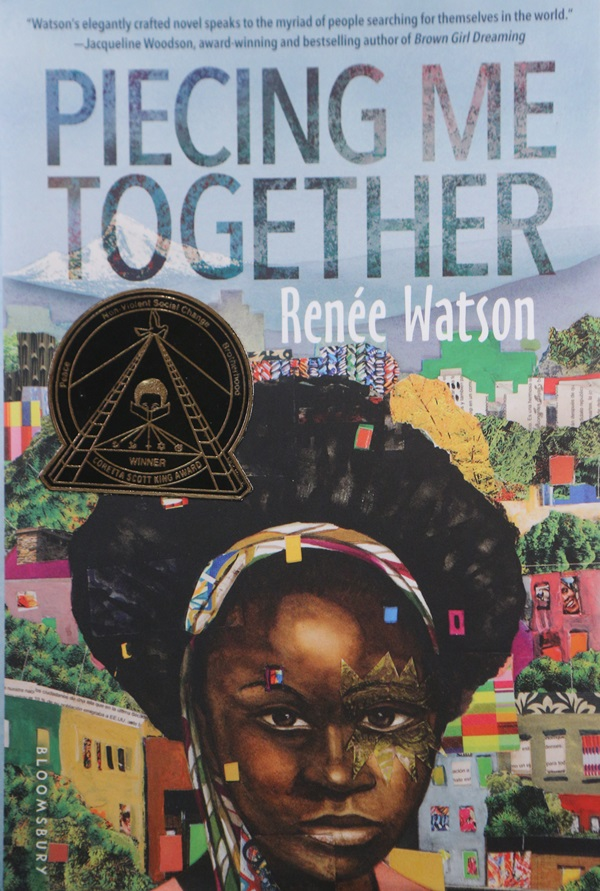 "Cover of the book ""Piecing Me Together"""