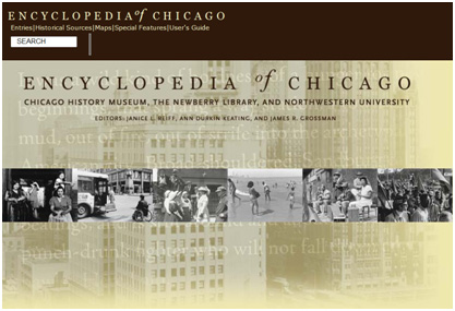 homepage of encyclopedia of chicago