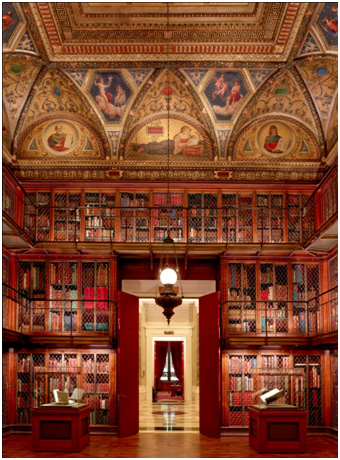mr. morgan's library, east room, part of the morgan library and museum.