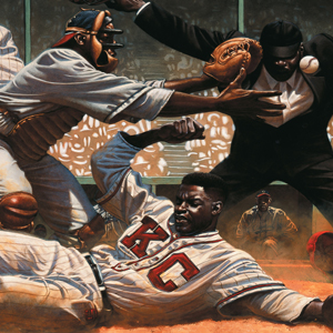 "Illustration by Kadir Nelson from ""We Are The Ship: The Story of Negro League Baseball"""