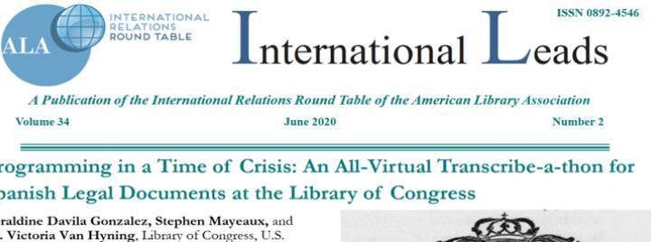 IRRT June 2020 issue of international leads