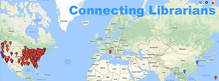 Connecting librarians Google map with pins
