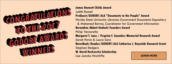 2017 GODORT Awards Winners.