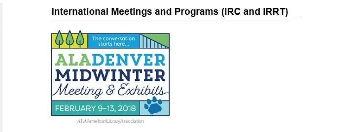 International Meetings and Programs (IRC and IRRT)