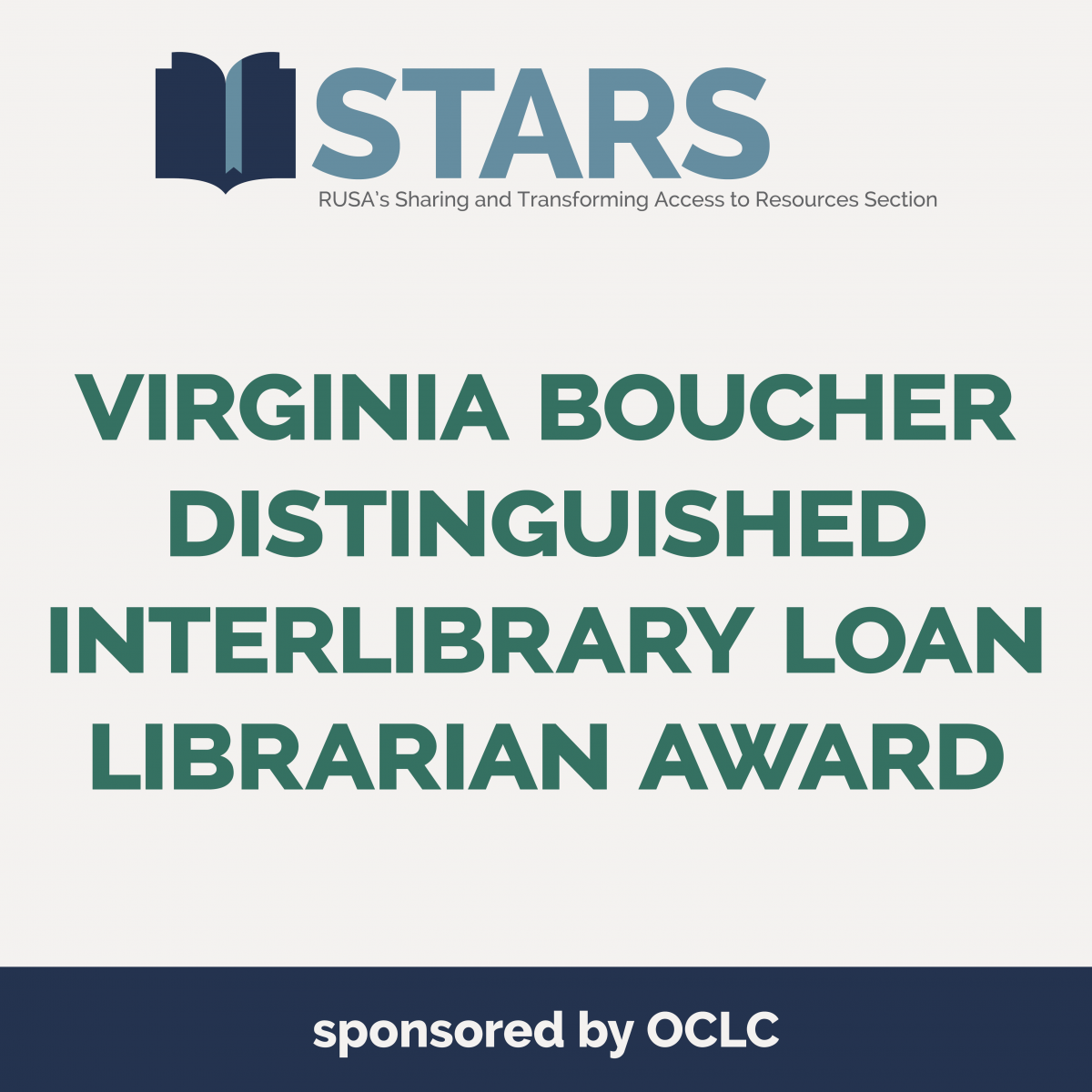STARS Virginia Boucher Distinguished ILL Librarian Award
