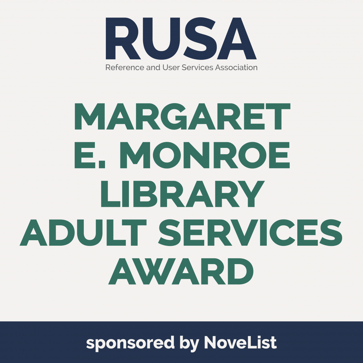 Margaret E. Monroe Library Adult Services Award