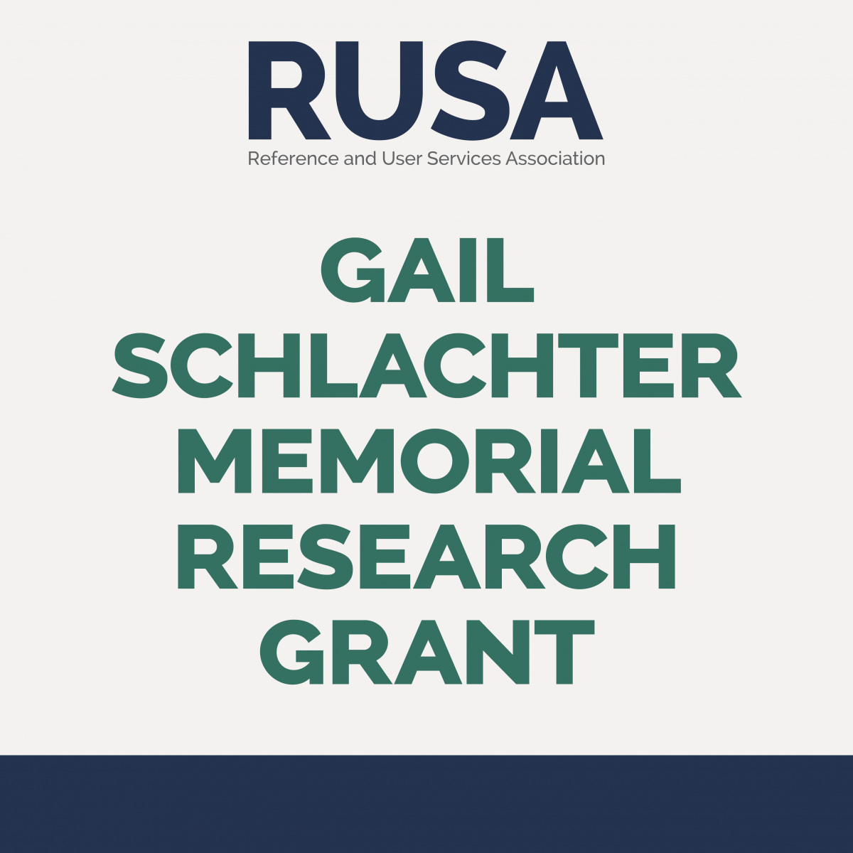 RUSA Gail Schlachter Memorial Research Grant