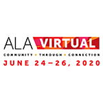 Image of ALA Virtual logo with event dates starting June 24th through June 26th, 2020