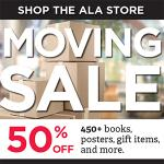 Moving Sale. 50% off 450+ books, posters, gift items, and more!