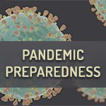 Image with text that reads: Pandemic Preparedness
