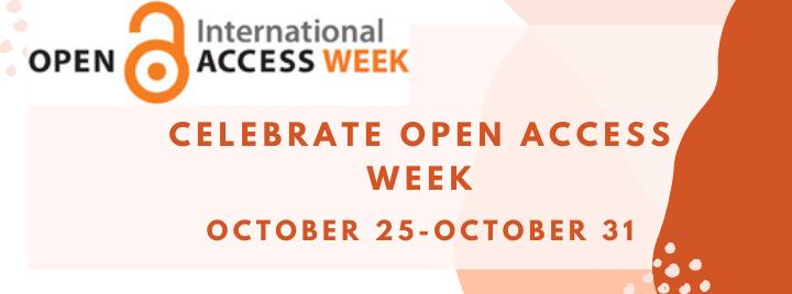 Celebrate Open Access Week, October 25-October 31
