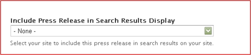 Include Press Release in Search Results