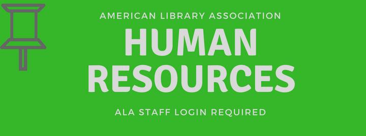 ALA Human Resources Staff Login Required