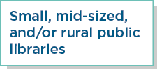 Small, mid-sized and/or rural public libraries