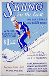 skiing in the east, american guide series.