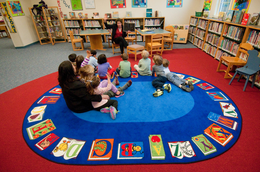 Storytime at the Meadowbrook School library