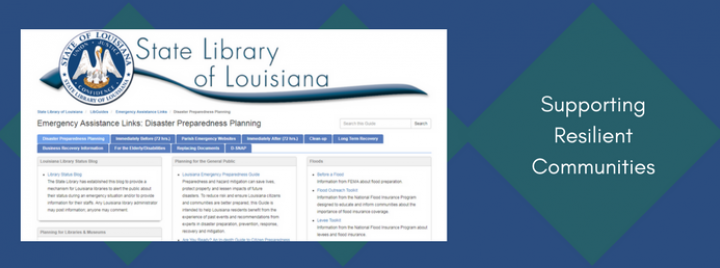 State Library of Louisiana Supports Resilient Communities