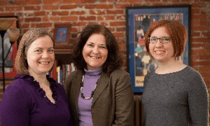 From left: Beth Nawalinski, Sally Gardner Reed, and Jillian Kalonick