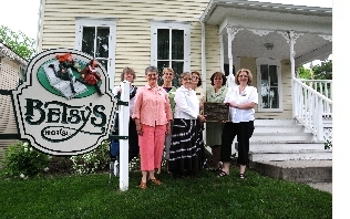 betsy-tacy society board members (from left) laurie pengra, susan brown, penny banwart, joan brown, pat nelson, jackie hilgert, and julie schrader. (photo credit: jack madsen)