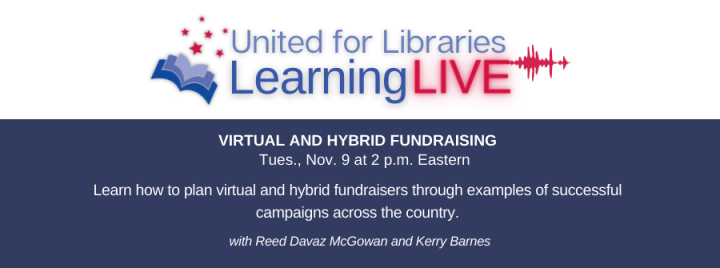 """Learn how to plan virtual and hybrid fundraisers through examples of successful campaigns across the country at """"Virtual and Hybrid Fundraising"""" Tues., Nov. 9 at 2 p.m. Eastern."""