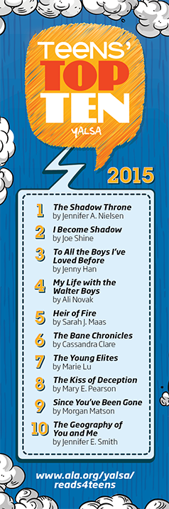 YALSA Teen's Top 10 Books of 2015