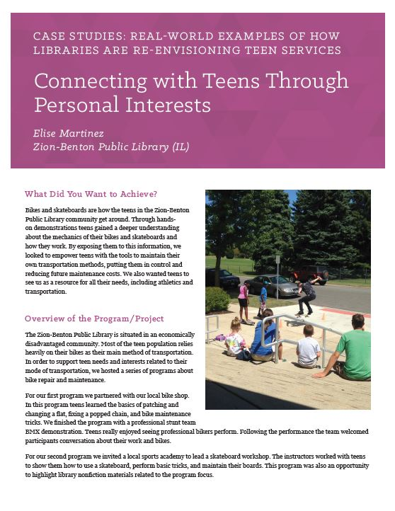 Case Studies: Real-World Examples of How Libraries Are Re-Envisioning Teen Services   Young