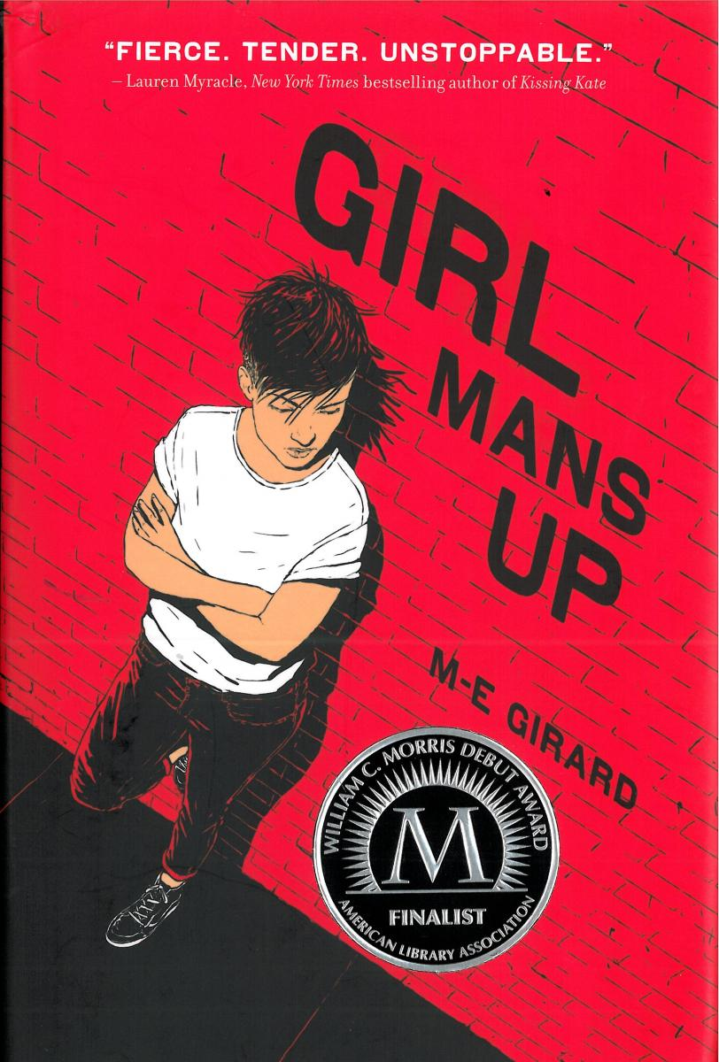 Book cover, Girl Mans Up